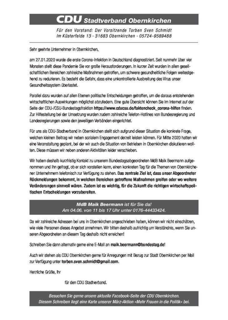 Telefonaktion mit dem Bundestagsabgeordneten